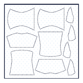 Illustration showing private fabric design